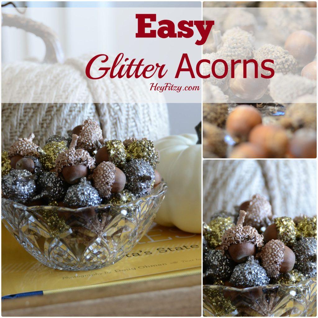 Easy Glitter Acorns