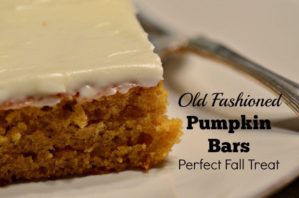 Hey Fitzy, pumpkin bars, homemade, DIY, easy recipes