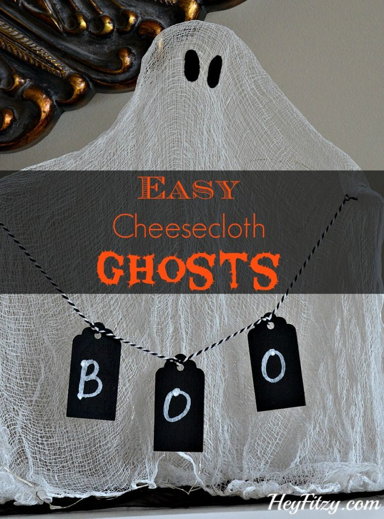 cheese cloth ghosts