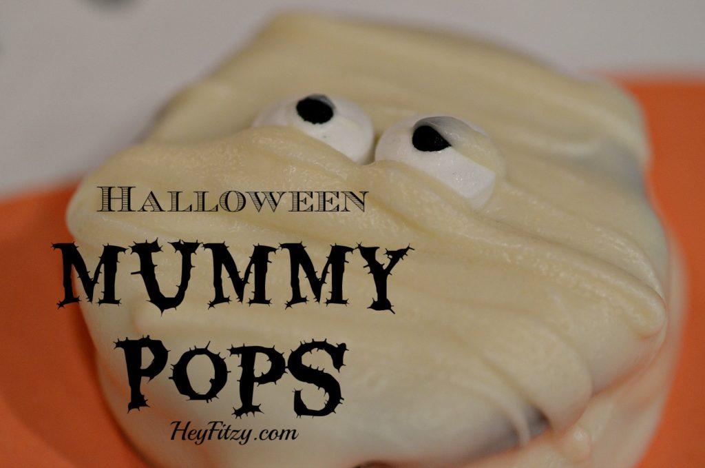 halloween mummy pops