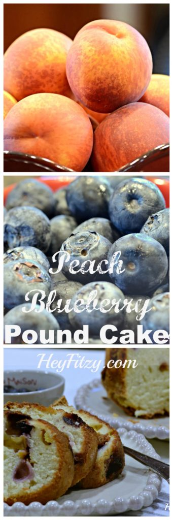 peach blueberry pound cake