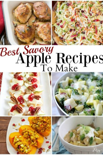 Savory Apple Recipe Round Up
