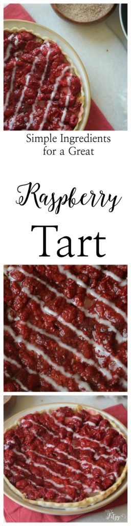 great raspberry tart that looks fancy but is easy to make