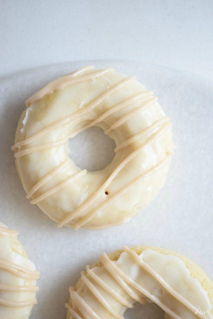 white chocolate donuts