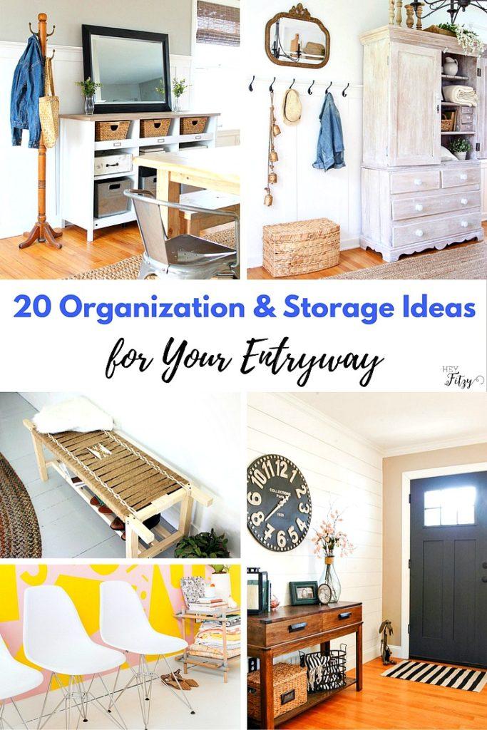 20 organization & storage ideas for your entryway. - hey fitzy 20 Storage Ideas