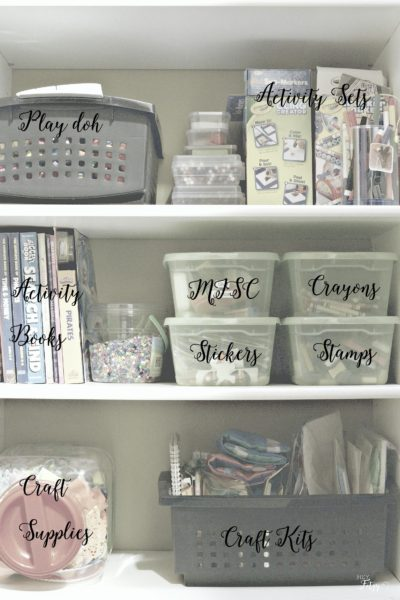 Ideas to help organize your craft and office spaces.