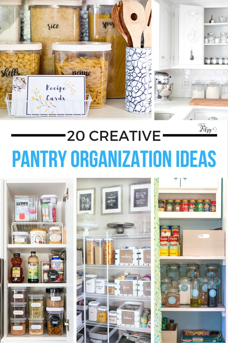 20 Creative Pantry Organization Ideas Hey Fitzy