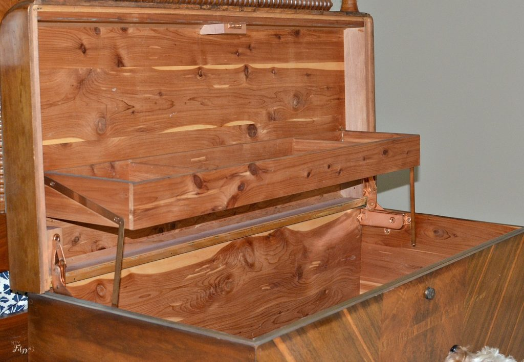 Refurbished Antique Cedar Chest and a Sweet Love Story