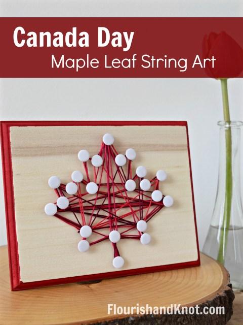 Maple Leaf String Art