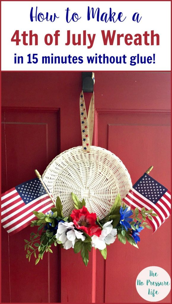 Quick and Easy Wreath for the 4th of July