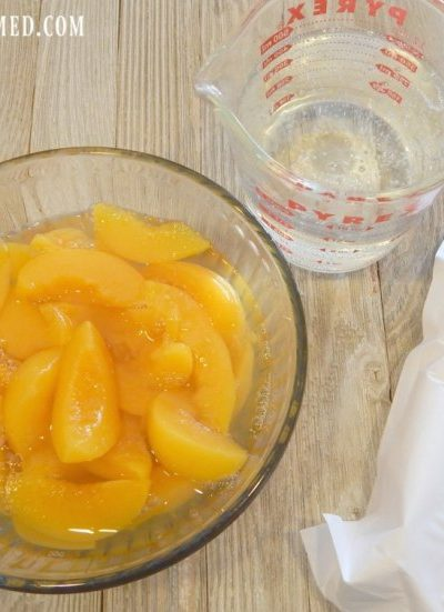 Peach Cobbler- The Easy Way-Just Three Simple Ingredients