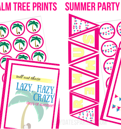 The Spectacular Summer Blog Hop and Free Party Printables!