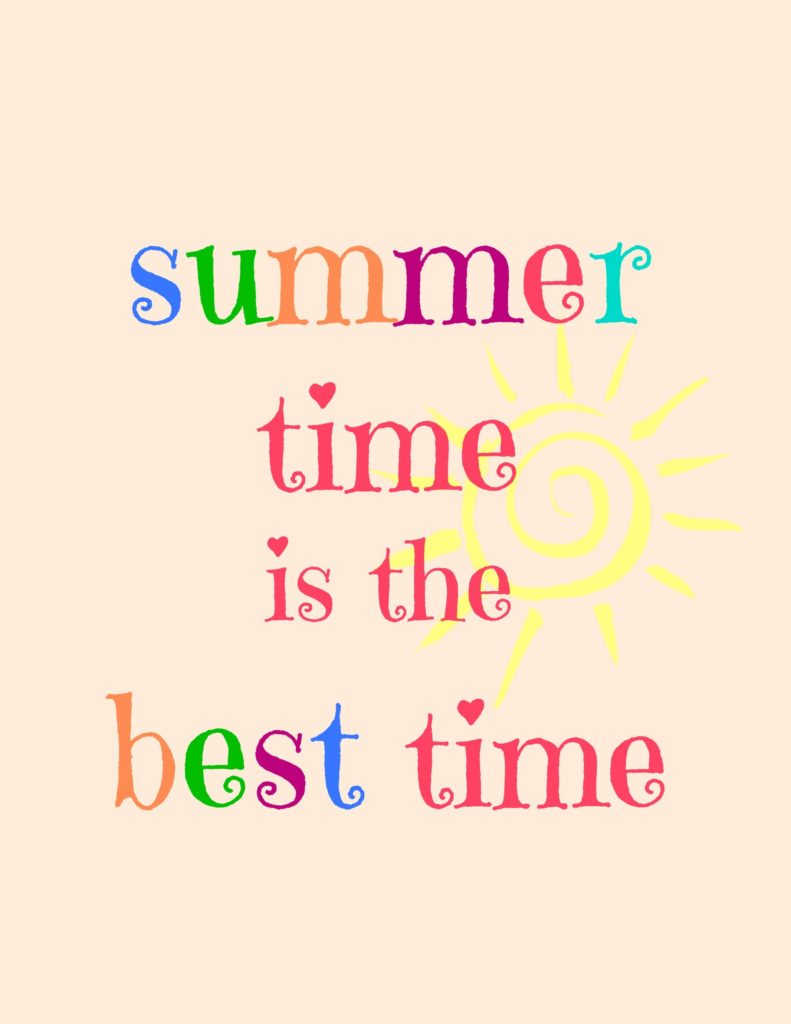 Summer Time Printables