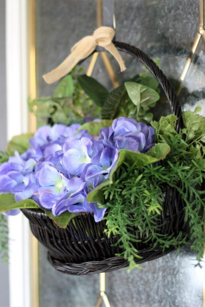 Hydrangea Basket for your Front Door