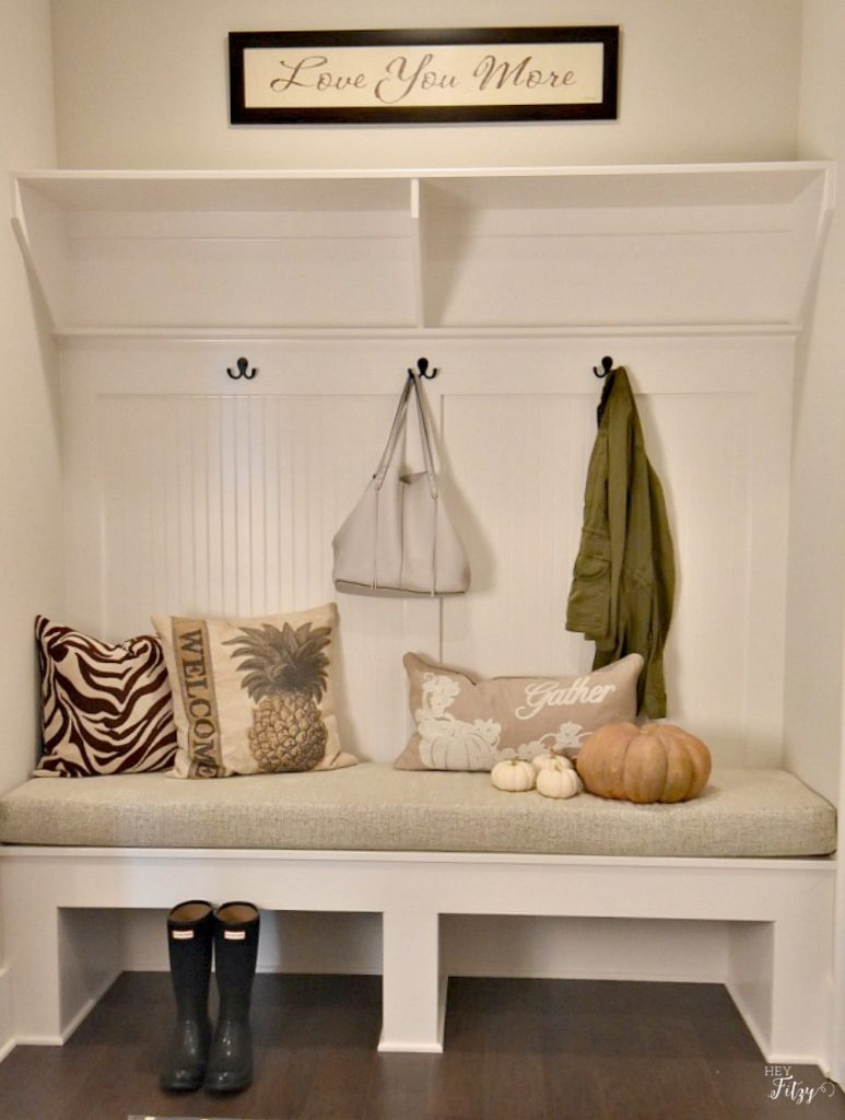fall mud room decor