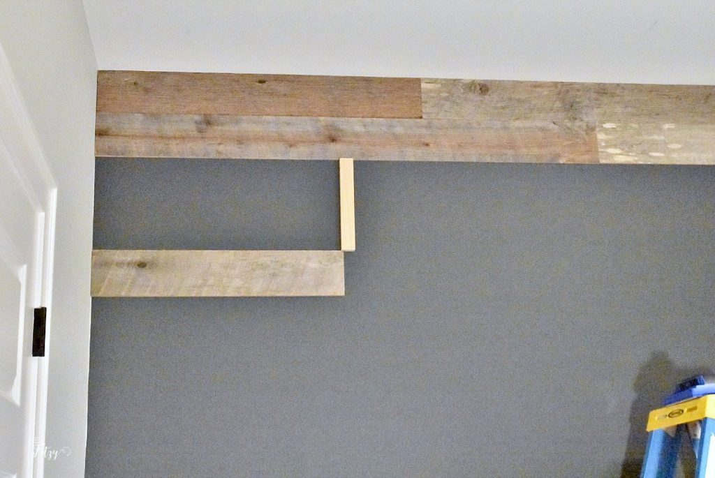 how to make an accent barn wood accent wall