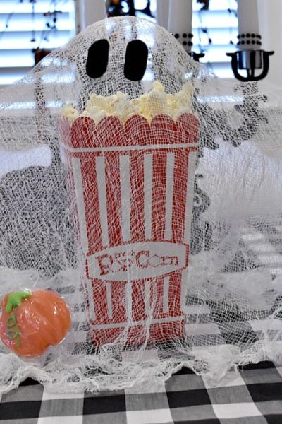Popcorn Box Party and A Cheese Cloth Ghost