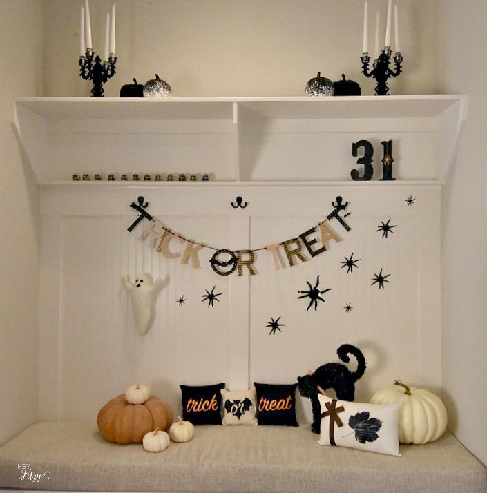 halloween mud room