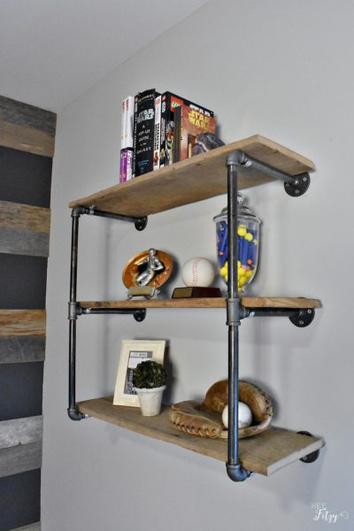 How to Create an Industrial Pipe Shelf