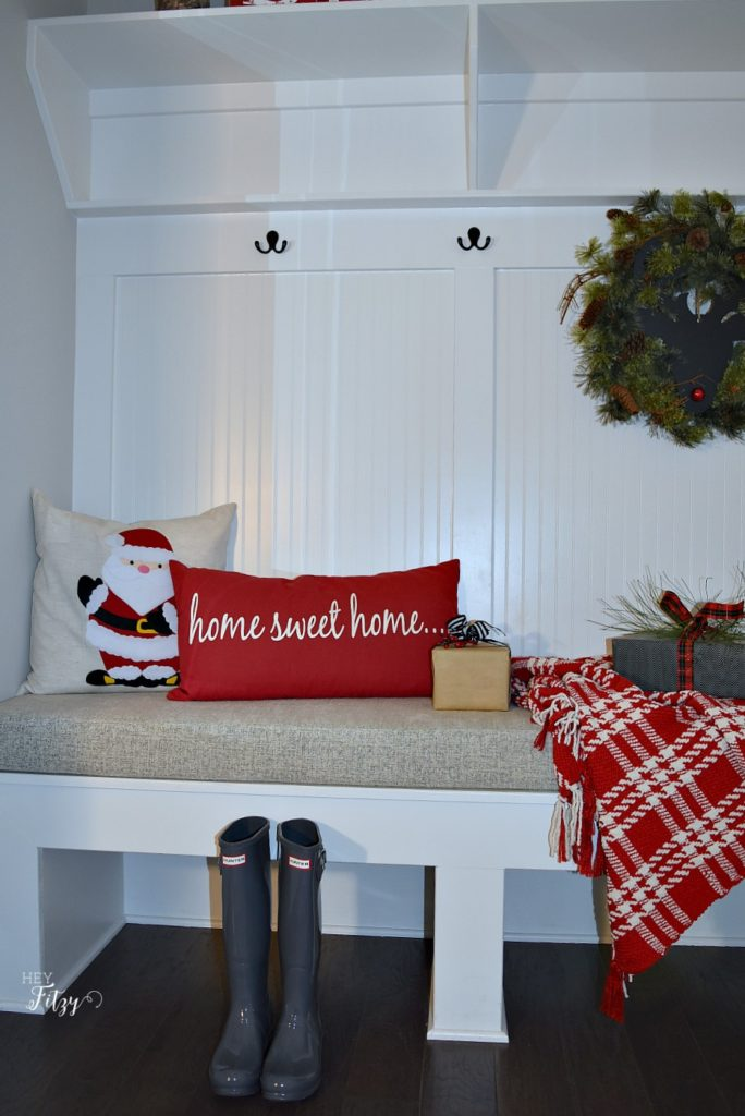 holiday mudroom